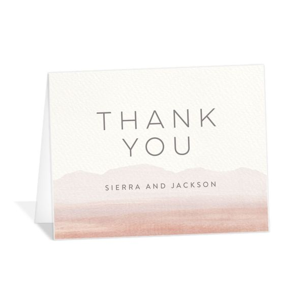 Painted Desert Thank You Card Front Pink