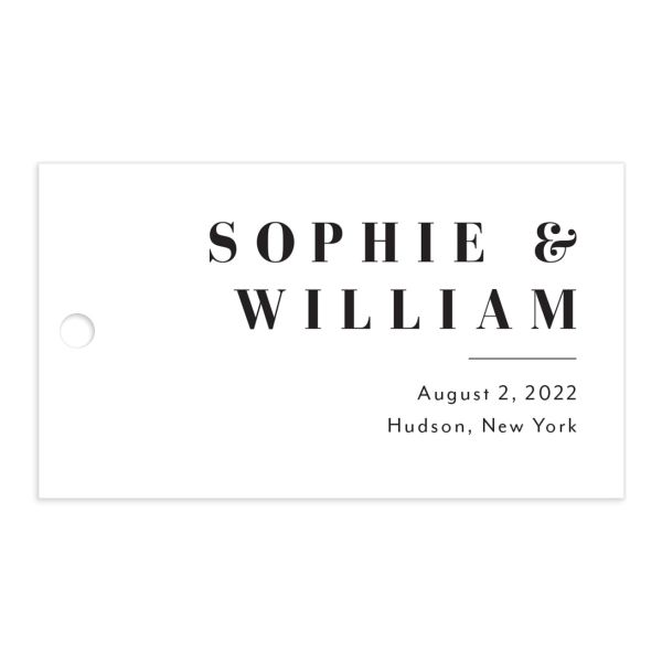 Modern Bodoni gift tag front