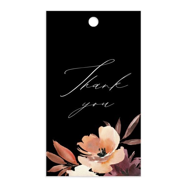 Leafy Floral gift tag front