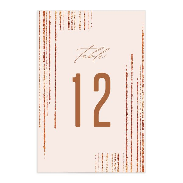 Classic Cascade Table Number Cards Front Blush