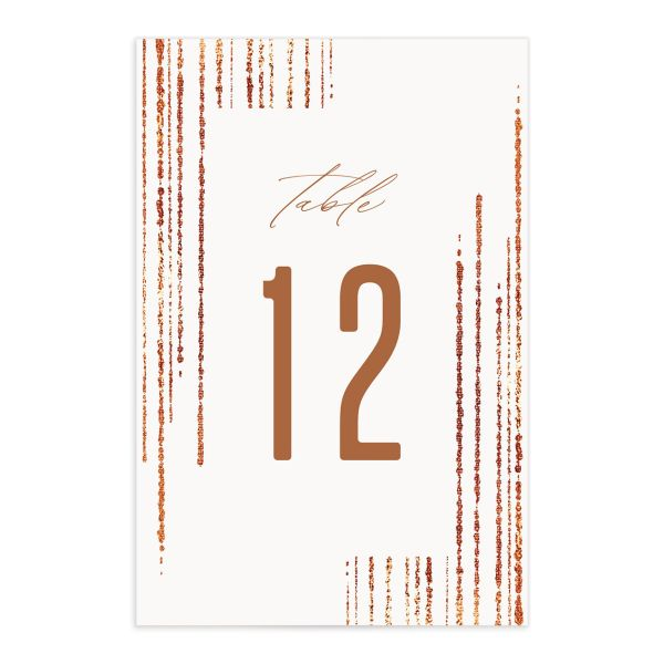 Classic Cascade Table Number Cards Front White