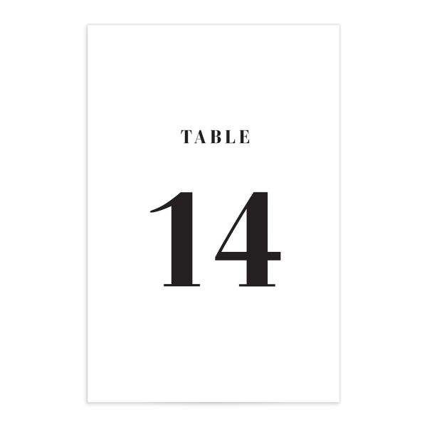Modern Bodoni table number front