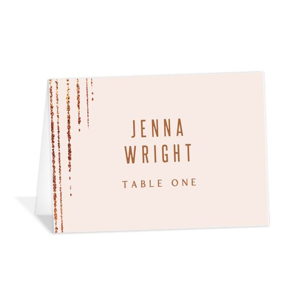 Classic Cascade Place Card Front Blush
