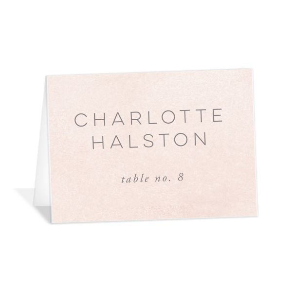 Painted Desert Place Card Front Pink
