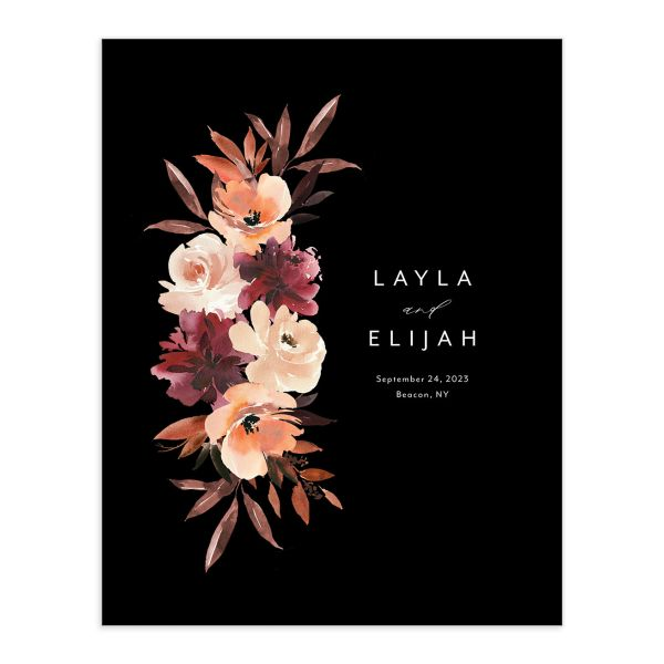 Leafy Floral guest book