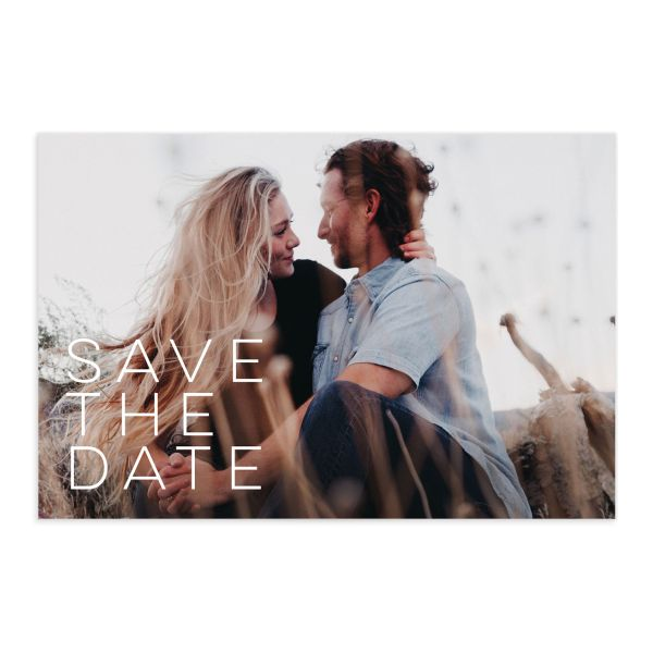 Painted Desert Save the Date Postcard Front and Back Purple