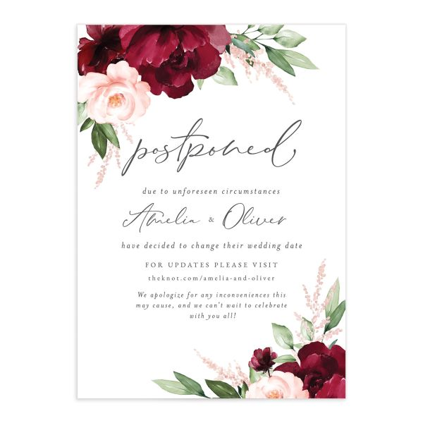 Beloved Floral Change the Date catalog image in red