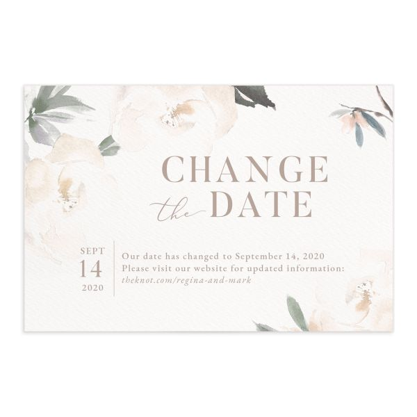 Elegant Garden change the date postcards front green