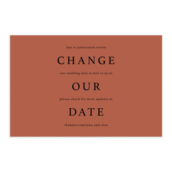 Natural Palette Change Our Date Postcard Front