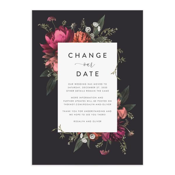 Blooming Botanical change the date front black