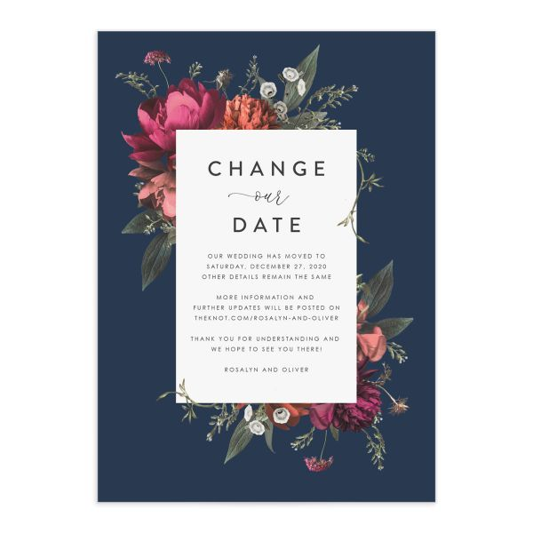 Blooming Botanical Change the Date Cards