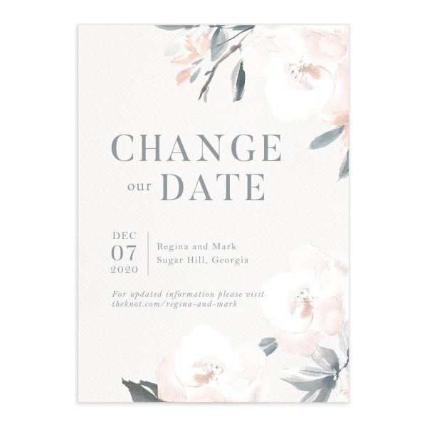 Elegant Garden change the date card front blue