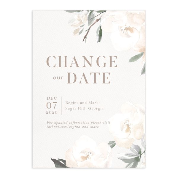 Elegant Garden change the date card front green