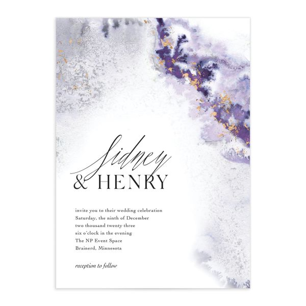 Painted Ethereal Wedding Invitations