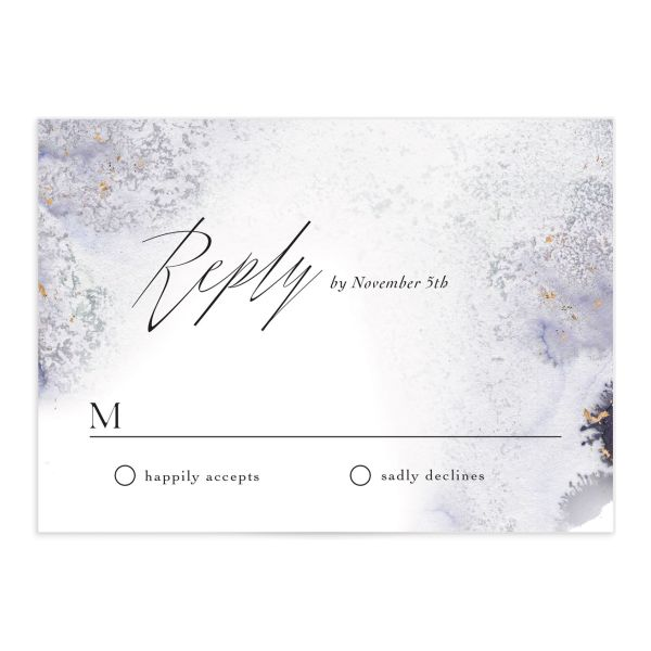 Painted Ethereal Response Card front purple