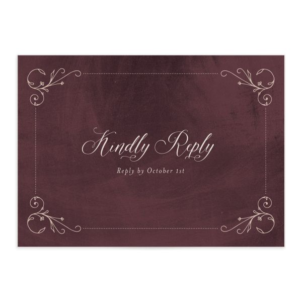 Vintage Luxe Wedding Response Card Front Red