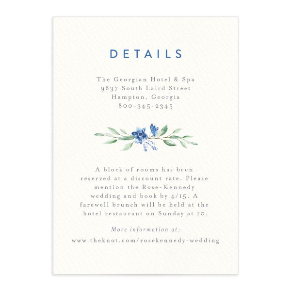 Watercolor Crest enclosure card front blue