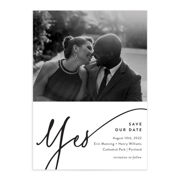 Simply Us Save the Date card front white