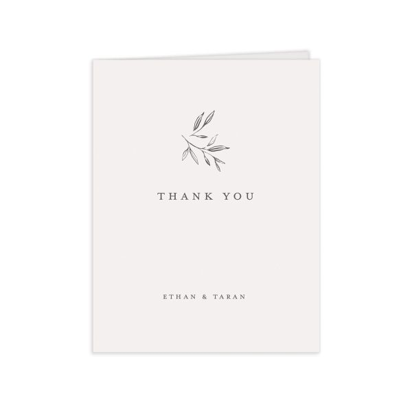 Minimal Leaves thank you card front