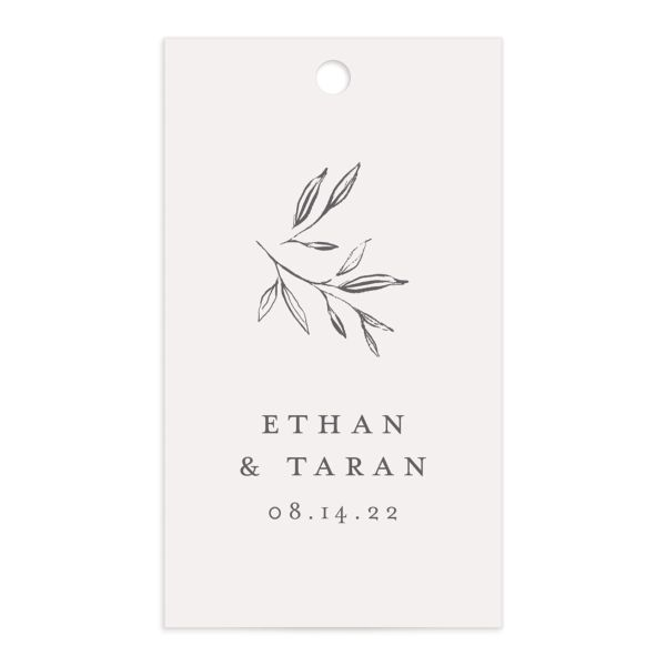 Minimal Leaves gift tag front