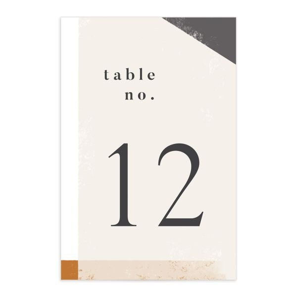 Modern Colorblock table number front grey