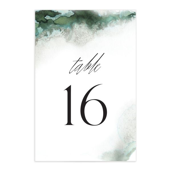 Painted Ethereal Table Number front green