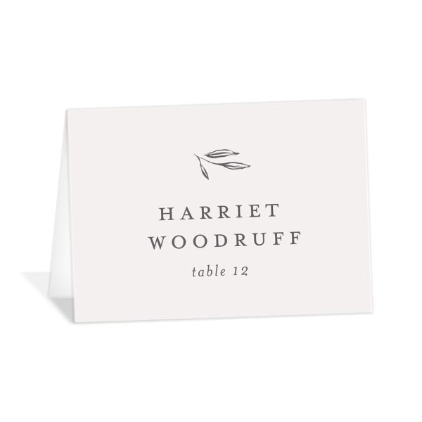 Minimal Leaves Place Cards