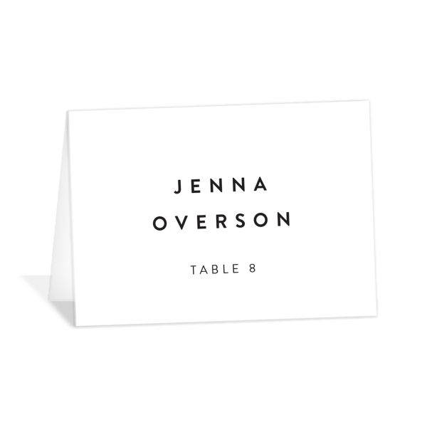 Simply Us Place Card Front White