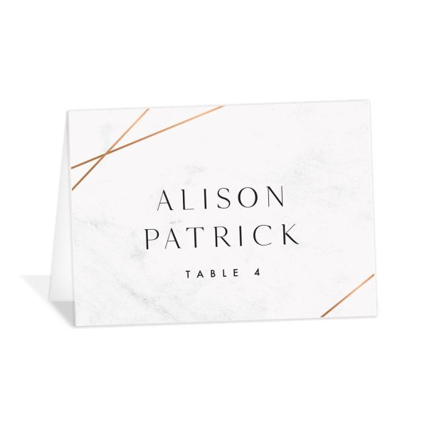 Geometric Marble place card front