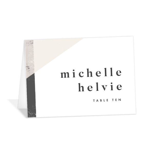 Modern Colorblock place card grey