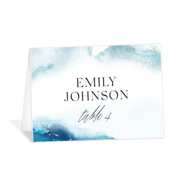 Painted Ethereal Place Card front blue