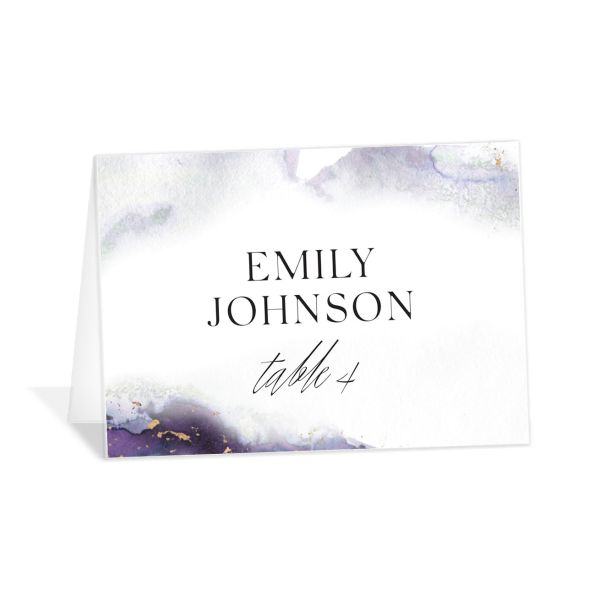 Painted Ethereal Place Card front purple