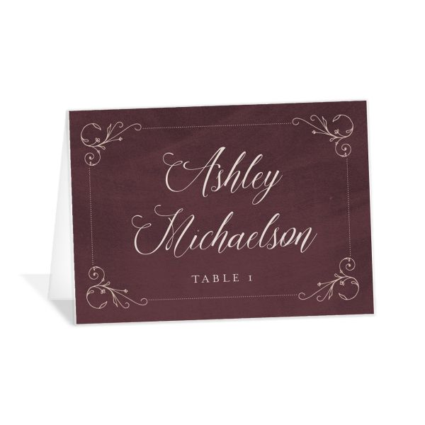 Vintage Luxe Place Card Red