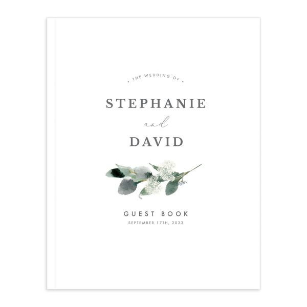 Elegant Greenery guest book