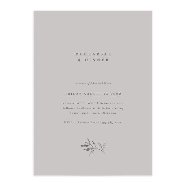 Minimal Leaves Rehearsal Dinner Invitations