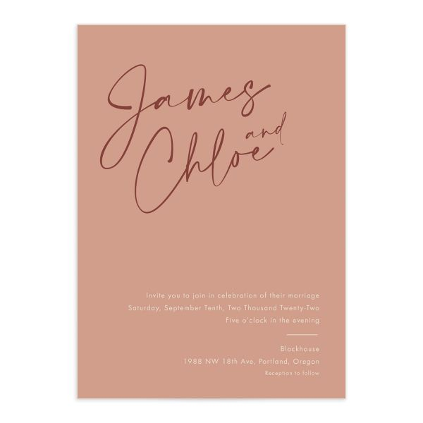 Simple Script invitation front