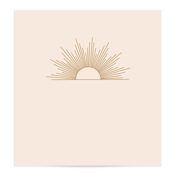 Modern Romantic envelope liner terra cotta