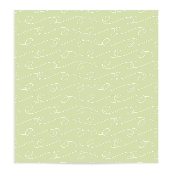 Romantic Succulents envelope liner green