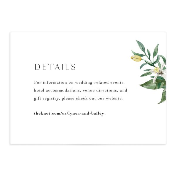Botanical Lemon Enclosure Card front
