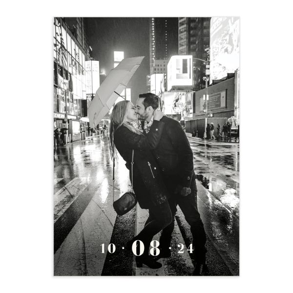 Love in New York Save the Date Card front grey