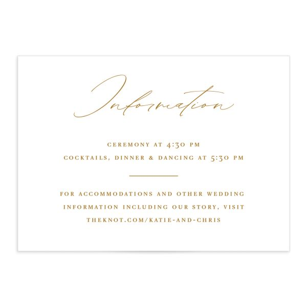 Classic Landscape Wedding Enclosure Card front mustard