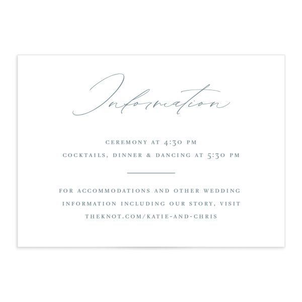 Classic Landscape Wedding Enclosure Card front blue