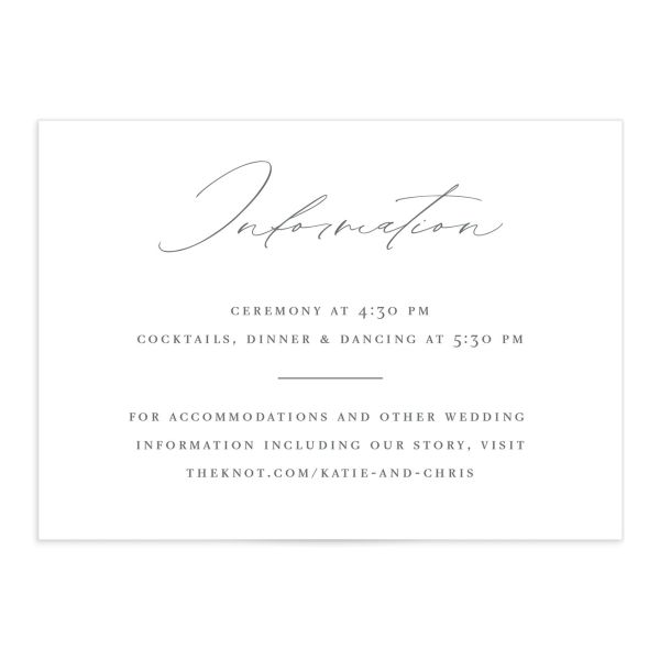 Classic Landscape Wedding Enclosure Card front grey