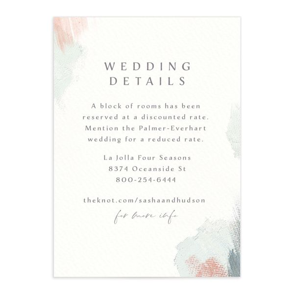 Minimal Brush Wedding Enclosure Card front green