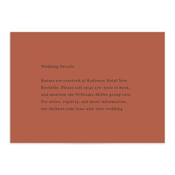 Natural Palette Wedding Enclosure Cards