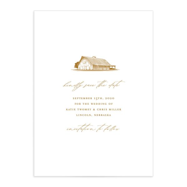 Classic Landscape wedding save the date catalog mustard barn