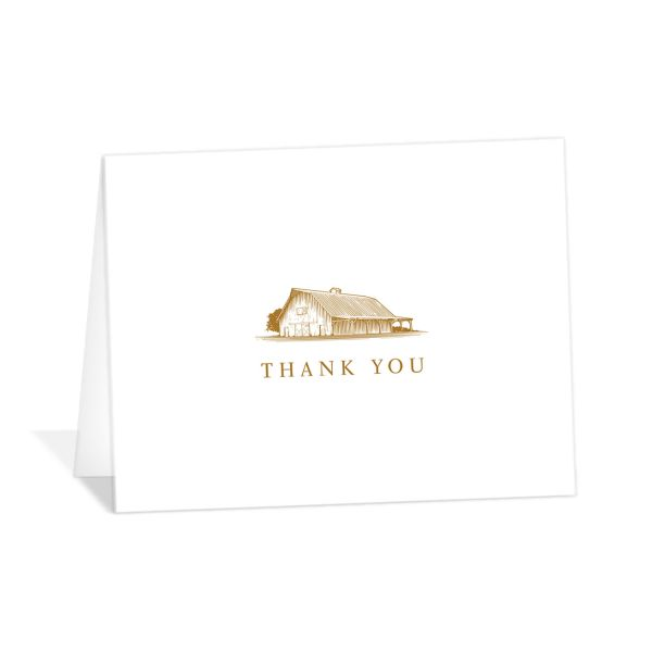 Classic Landscape Thank You Card mustard
