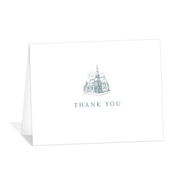 Classic Landscape Thank You Card blue
