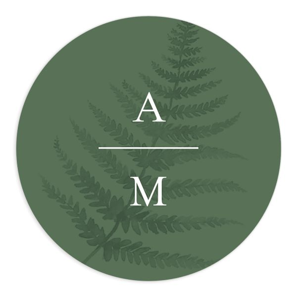 Woodsy Ferns sticker dark green