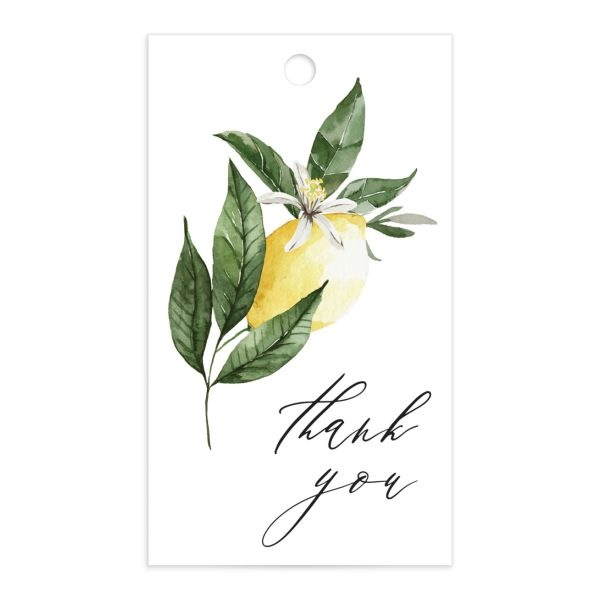 Botanical Lemon Gift Tag front